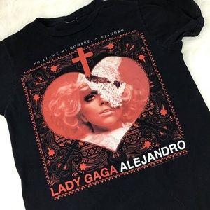 LADY GAGA Black Graphic Band T-shirt Medium